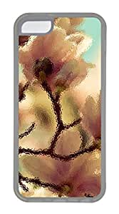 iphone 5C case,custom iphone 5C case,TPU Material,Drop Protection,Shock Absorbent,Customize your own cell phone case pattern,transparent case,Peach blossom in full bloom