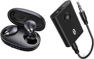 TaoTronics Bluetooth Audio Transmitter Bundle with TaoTronics SoundLiberty 79 Smart AI Noise Reduction for Clear Calls