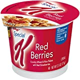 Special K Kellogg's, Breakfast Cereal in a Cup, Red Berries, Bulk Size, 12 Count (Pack of 12, 2.5 oz Cups)