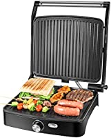 OSTBA Panini Press Grill Indoor Grill Sandwich Maker with Temperature Control, 4 Slice Non-stick Versatile Grill, Opens...
