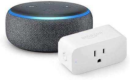 Echo Dot with Amazon Smart Plug, Charcoal: Amazon.ca: Amazon Devices