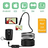 Wireless Inspection Camera, Papake Updated 1200P HD Wifi Endoscope Borescope With 2.0 Megapixels 1200P HD Snake Camera For Iphone Android Smartphone, Table, Ipad, PC - (16.4FT)