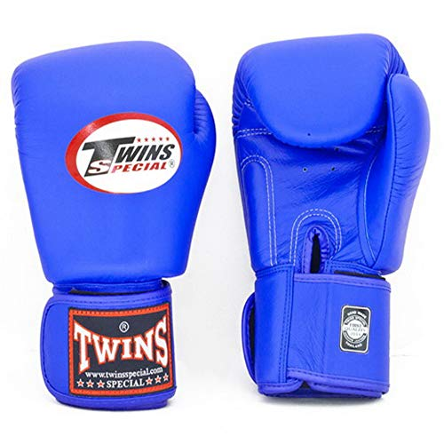 Twins Gloves for Training and Sparring Boxing, Muay Thai, Kickboxing, MMA (Blue,16 oz)