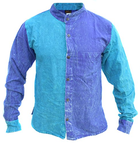 Little-Kathmandu-Mens-Cotton-Hemp-Light-Ethnic-Shirt-Kurtas