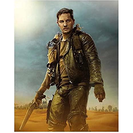 28043ed99 Mad Max: Fury Road 8x10 Photo Tom Hardy Black Leahter Jacket Holding ...