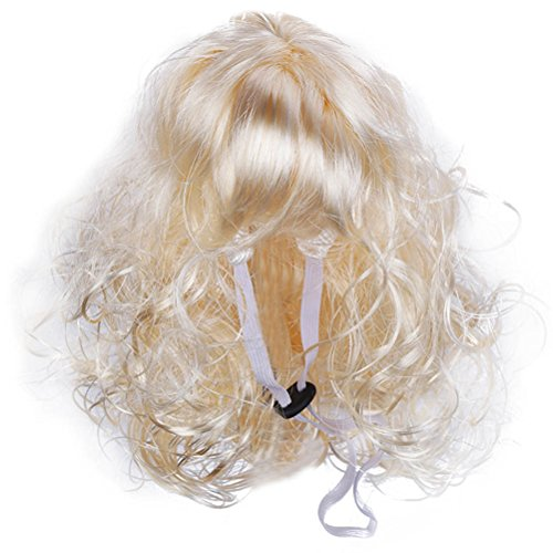 POPETPOP Pet Dog Costumes Funny Curly Wig Dog Headwear Pet Accessories -
