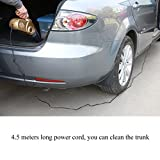 (Upgraded Version) Car Vacuum Cleaner, Wet and Dry Portable Auto Vacuum- 14 Foot Power Cord with HEPA Filter, 4 in 1 Multifunctional - LED Lamp, Measuring tire pressure, Tire pump Function