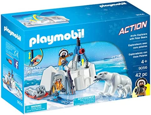 PLAYMOBIL- Exploradores con Osos Polares (9056): Amazon.es ...