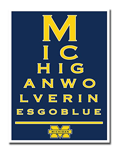 Michigan Wolverines Eye Poster Print Wall Art D?cor