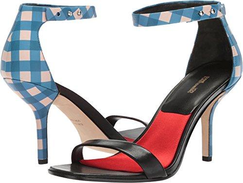 Diane von Furstenberg Women's Ferrara Black/Tile Blue 8 B US