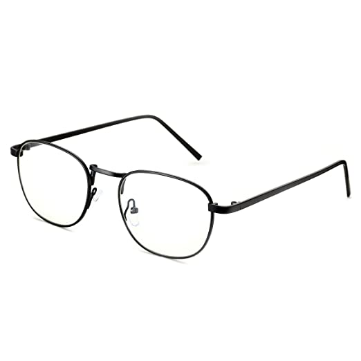 0357024ccec Amazon.com  PenSee Optical Large Oval Round Circle Oversized Metal Clear  Lens Eye Glasses Eyewear Frames  Clothing