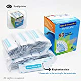 TONELIFE 80 Count Nasal Rinse Mix - Nasal Salt 2.7g Each Pouch   Refill Kit   80 Buffered Salt Packets   Allergy and Congestion Relief Nasal Wash,for 300ml 500ml Saline Sinus Rinse Kit
