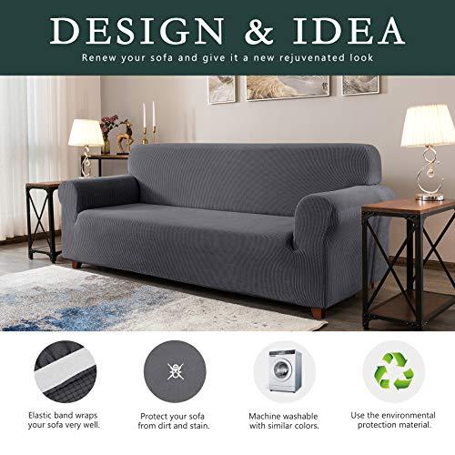Polyester and Spandex 3 CHUN YI 1-Piece Jacquard High Stretch Sofa Slipcover