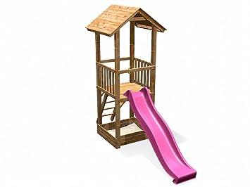 Klettergerüst Mit Sandkasten : Spielturm mit sandkasten rutsche holzdach deinspielgeraet max