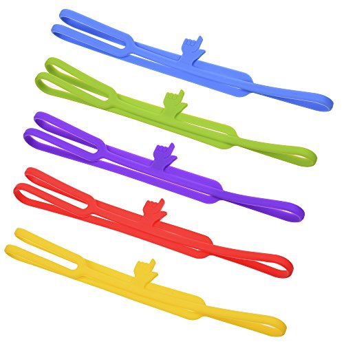Silicone Finger Point Bookmarks, pack of 5