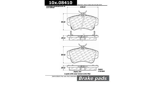 Centric 100.08410 OEM Brake Pad