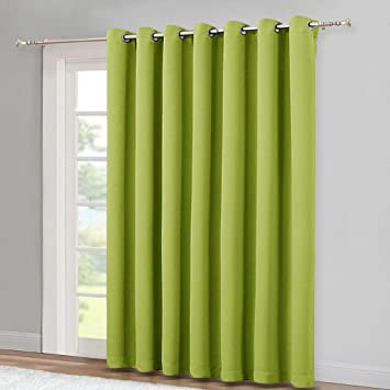 Amazoncom Nicetown Glass Door Curtains For Window Wide Thermal