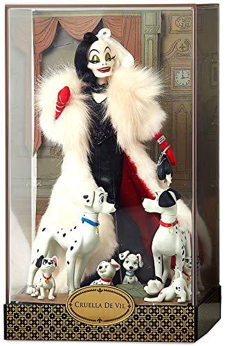 Disney Cruella De Vil and Dalmatians Doll Set Designer Folktale Limited Edition -