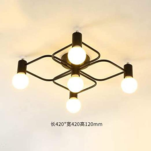 WSYYWD Lámpara de techo Led nórdica Dormitorio de hierro moderno ...