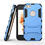 iPhone SE Hard Case, Lin shop® Fashion Design with Rugged Holster Dual Layer Protective iPhone 5SE Hybird Armor Case [Shock Absorption][KickStand] for Apple iPhone SE(2016) (blue)