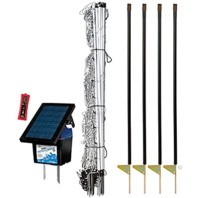 "Premier 42"" ElectroStop Plus Starter Kit - Includes White ElectroStop Plus Electric Net - 42""H x 100'L with double spiked posts, FiberTuff Support Posts, Solar Fence Energizer, Wireless Fence Tester"