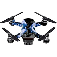 Skin For DJI Spark Mini – Blue Roses   MightySkins Protective, Durable, and Unique Vinyl Decal wrap cover   Easy To Apply, Remove, and Change Styles   Made in the USA