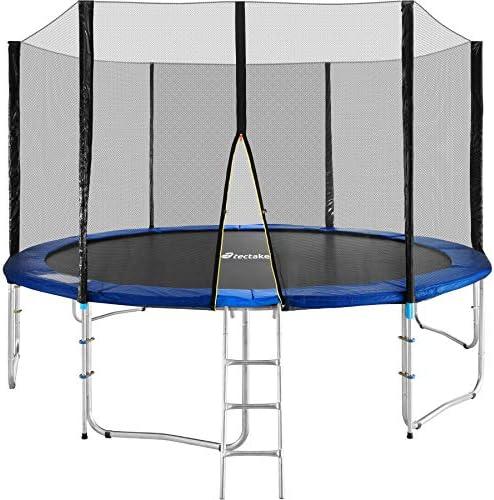 TecTake Cama elástica trampolín para Jardin con Red de Seguridad Escalera - Varias tamaños - (Ø 395cm | No. 401900): Amazon.es: Deportes y aire libre