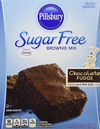Pillsbury Sugar Free Mix - Chocolate Fudge Brownie - 12.35 oz - 2 Pack