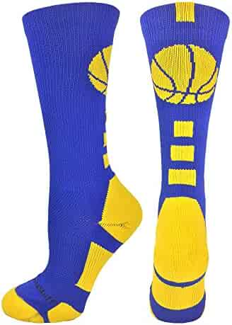 MadSportsStuff Basketball Logo Athletic Crew Socks (over 15 colors)