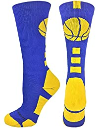 Basketball Logo Athletic Crew Socks (over 15 colors)