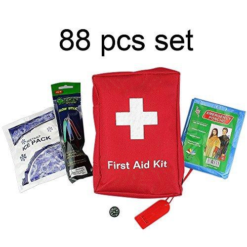 SadoMedcare 85 teiliges Survival und Erste Hilfe Set, perfekt fürs Reisen, Wandern und Camping.