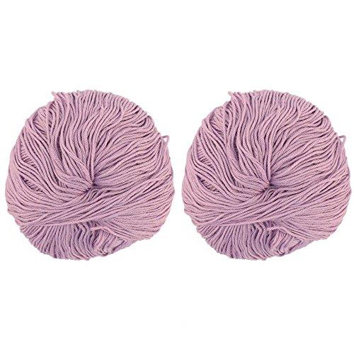 - JubileeYarn Bamboo Cotton Blend Sport 4 Ply Yarn - 100g/skein - Lilacs - 2 Skeins