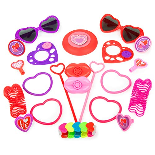 Bulk Toys Party Favors for Kids - 100 Pc Princess Party Supplies for Girls and Boys Bulk Party Favors Toy Assortment for Pinata Filler & Birthday Party Supplies (Mini Strawberry Shortcake Toys)