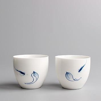 Tasse Malerei Fisch Paar Porzellan Teetasse 50ml Becher