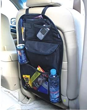 2 x Back Seat Car Van Seat Kid Organiser Tidy Multi-Pocket Laptop Storage Travel