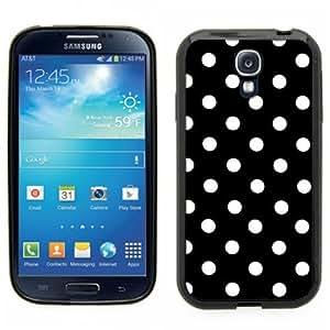 Samsung Galaxy S4 SIIII Black Rubber Silicone Case - Polka Dots