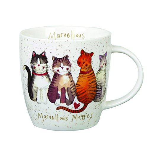 Churchill Alex Clark Marvelous Moggies Gift Coffee Tea Mug for Cat Lovers