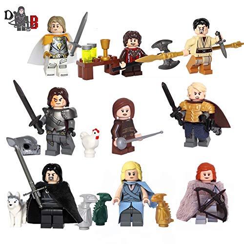 Custom Game of Thrones 9 Pack - Made Using Genuine & Custom Pieces. (Lego Custom Minifigures)