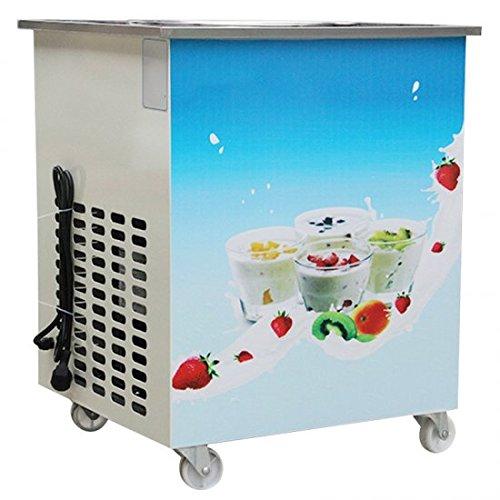 Genmine Fried Ice Cream Machine, Single Round Pan Fried Ice Cream Roll Maker Pan Diameter 14.2'' Commercial Fried Milk Yogurt Machine by Genmine (Image #2)
