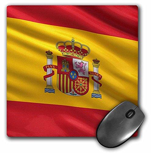 3dRose Carsten Reisinger Illustrations - Spain Spanish Flag Banner Coat of Arms National Country - MousePad (mp_154975_1) ()