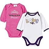 Gerber Baby Girls Baltimore Ravens Long Sleeve Bodysuits-2 Pack