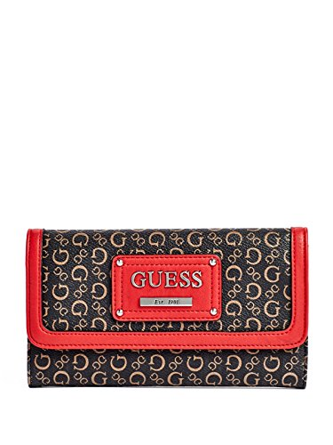 guess-proposal-logo-large-checkbook-wallet-clutch-bag-natural-red