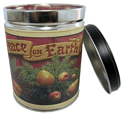 Our Own Candle Company Cranberry Orange Spice Scented Candle in 13 Ounce Tin with a Peace on Earth ()