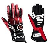 Driven Motorsport Men's Nomex Gloves (Black/Red, Medium)