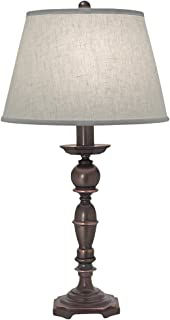 product image for Stiffel TL-C410-C436-OB One Light Table Lamp, Oxidized Bronze Finish with Cream Aberdeen Shade