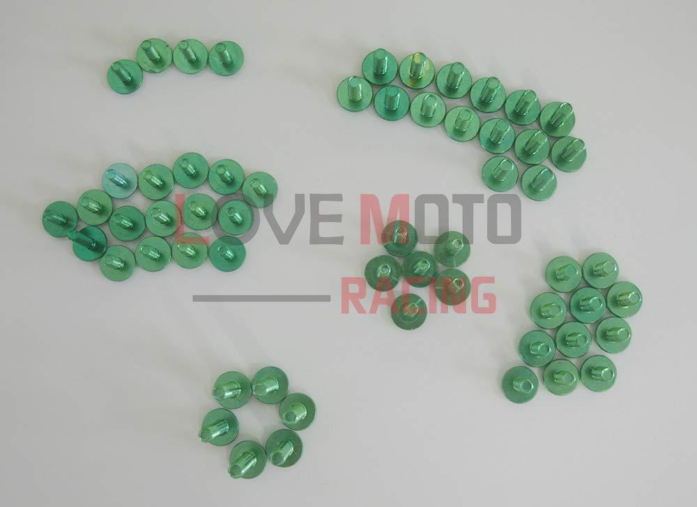 LoveMoto Kompletter Motorrad-Schraubensatz f/ür die Verkleidung CBR 600 RR F5 03 04 CBR 600 RR F5 2003 2004 Alu-Schrauben Befestigungsklammern Schwarz Silber