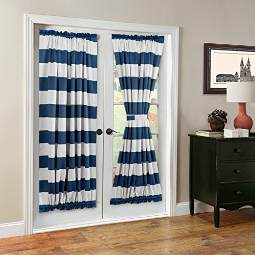 [TURQUOIZE Blackout French Door/ Patio Door Panels, Rod pocket curtains, 1 Piece, 52