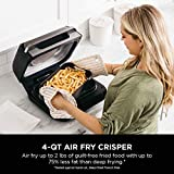 Ninja FG551 Foodi Smart XL 6-in-1 Indoor Grill with 4-Quart Air Fryer Roast Bake Dehydrate Broil and Leave-in Thermometer, with Extra Large Capacity, and a stainless steel Finish