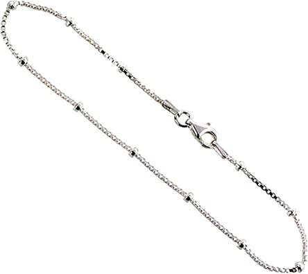 18 inches 1.4MM 925 Sterling Silver Italian Box Chain Necklace