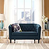 Modway Prospect Upholstered Contemporary Modern Loveseat In Azure